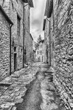 Scenic streets of the medieval town of Gubbio, Umbria, Italy Royalty Free Stock Photos