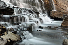 Scenic Stress Relief. Scenic View of a Cascade Waterfall Stock Photo