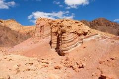 Scenic striped rocks in stone desert Stock Photo