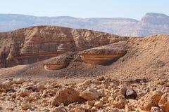 Scenic striped rocks in stone desert Royalty Free Stock Photo