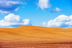 Scenic Stubble Farmland Royalty Free Stock Photo