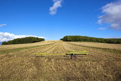 Scenic stubble field Stock Photography