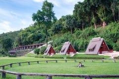 Scenic suan sai yok, river kwai cebin resort with railway history of world war II. In tham krasae cave, kanchanaburi, thailand royalty free stock images