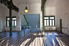 Scenic subway station in vienna in art deco Royalty Free Stock Photos
