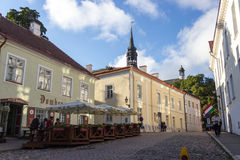 24-27.08.2016 Scenic summer beautiful aerial skyline panorama of the Old Town in Tallinn, Estonia Royalty Free Stock Photography