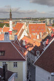 24-27.08.2016 Scenic summer beautiful aerial skyline panorama of the Old Town in Tallinn, Estonia Royalty Free Stock Photo