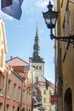 24-27.08.2016 Scenic summer beautiful aerial skyline panorama of the Old Town in Tallinn, Estonia Stock Images