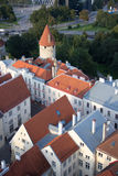 Scenic summer beautiful aerial skyline panorama of the Old Town in Tallinn, Estonia Stock Photography