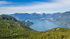 Scenic summer mountain hiking landscapes Canada. Summer mountain hiking landscapes of Provincial Park in British Columbia Canada Al's Habrich mountain trail Stock Images