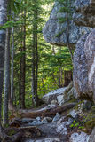 Scenic summer mountain hiking landscapes Canada. Summer mountain hiking landscapes of Provincial Park in British Columbia Canada Al's Habrich mountain trail Stock Photos