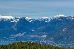 Scenic summer mountain hiking landscapes Canada Stock Photo