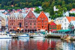 Scenery of Bergen, Norway Royalty Free Stock Photos
