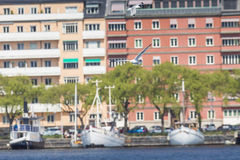Scenic summer panorama in Stockholm, Sweden Royalty Free Stock Photo