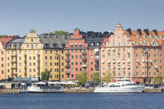 Scenic summer panorama in Stockholm, Sweden Stock Photography