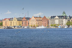 Scenic summer panorama in Stockholm, Sweden Royalty Free Stock Images