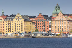 Scenic summer panorama in Stockholm, Sweden Stock Photo