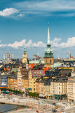 Scenic summer scenery of the Old Town in Stockholm Royalty Free Stock Image