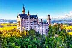 Neuscwanstein Castle, Bavaria, Germany Stock Images