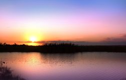 Scenic Sun Set Stock Image