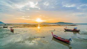 scenic sunrise above Rawai beach royalty free stock photo