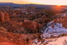 Bryce Canyon National Park Scenic Sunrise stock image
