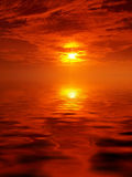 Scenic sunset royalty free stock photography
