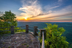 Scenic Sunset, Appalachian Mountains, Kingdom Come State Park, Kentucky. Sunset from the 12ocock Overlook in Kentucky's Kingdom Come State Park Stock Photo