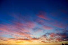 Scenic sunset backgroungd. Scenic colorful sunset or sunrise background royalty free stock image
