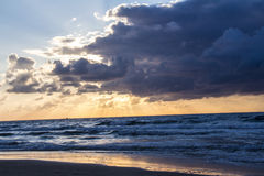 Scenic sunset and beach Royalty Free Stock Photos