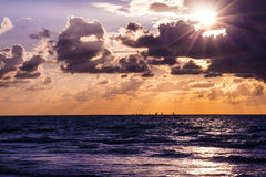 Scenic sunset and beach Royalty Free Stock Images