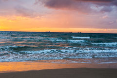 Scenic sunset and beach Royalty Free Stock Image