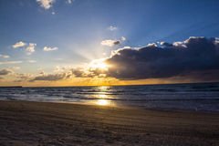 Scenic sunset and beach Stock Image