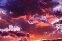 Scenic Sunset Cloudscape Royalty Free Stock Photography
