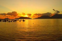 scenic sunset Stock Photo