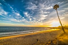 Scenic sunset in Malibu shore Royalty Free Stock Images