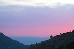 Scenic sunset in the mountains. Stock Images