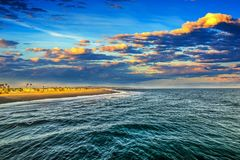 Scenic sunset in Newport Beach. Orange County. California, USA Royalty Free Stock Images
