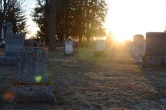 Scenic Sunsetting Graveyard Royalty Free Stock Image
