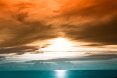 Scenic sunset over sea Stock Image