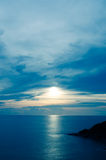 Scenic sunset over sea Stock Photography