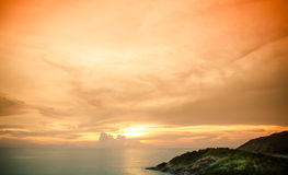 Scenic sunset over sea Stock Photos