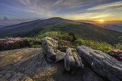 Scenic sunset, Roan Highlands, Tnnessee Royalty Free Stock Images