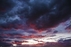 Scenic Sunset Sky Stock Photos