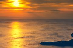 Sunset or sunrise over sea surface Royalty Free Stock Image