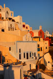 Scenic sunset view in Oia, Santorini Stock Image