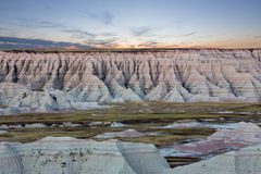 Scenic sunset view of the South Dakota badlands Royalty Free Stock Photo