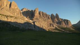 Scenic surroundings of the national park Tre Cime di Lavaredo. Dramatic scene. Location place Misurina range, Dolomiti. Alps, Tyrol, Italy, Europe. Beauty world stock video