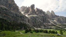 Scenic surroundings of the national park Tre Cime di Lavaredo. Dramatic scene. Location place Misurina range, Dolomiti. Alps, Tyrol, Italy, Europe. Beauty world stock video footage