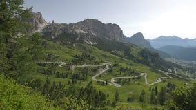 Scenic surroundings of the national park Tre Cime di Lavaredo. Dramatic scene. Location place Misurina range, Dolomiti. Alps, Tyrol, Italy, Europe. Beauty world stock footage