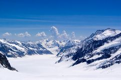 Scenic Swiss Alps. View of swiss alps from Jungfrau Stock Images